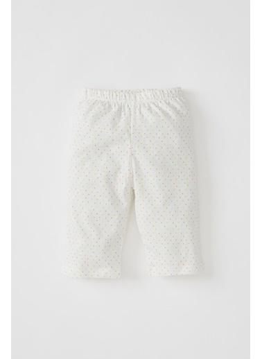 DeFacto Kız Bebek Unicorn Baskılı Kısa Kol Pijama Takımı Sarı